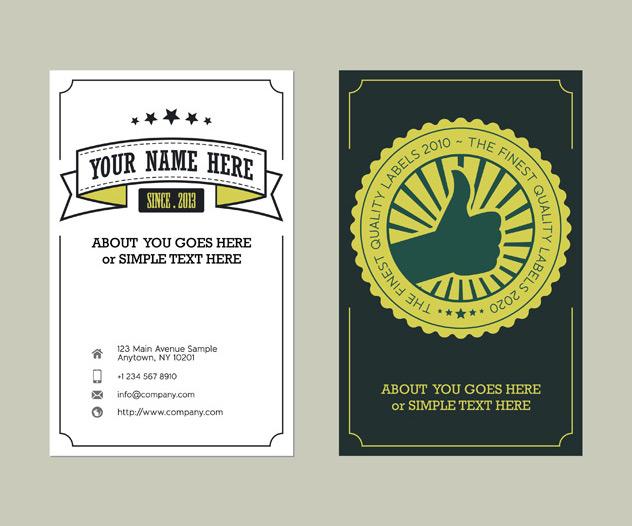 Indika39s blog free vintage style business card template for Business cards vintage style